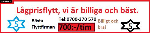 Reklam från flyttfirmor utlandsflytt ang Lågprisflytt